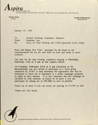 Correspondence from ASPIRA