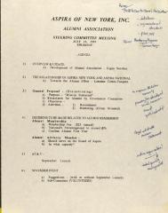 ASPIRA of New York, Inc. Alumni Association - Agenda for Steering Committee Meeting