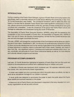 Comité Noviembre 1988 - Proposal