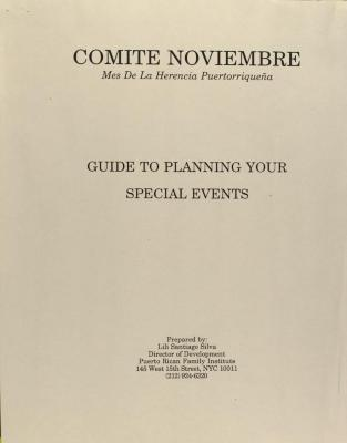 Comité Noviembre - Guide to Planning Your Special Events