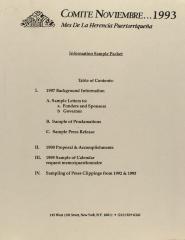 Comité Noviembre - Information Sample Packet