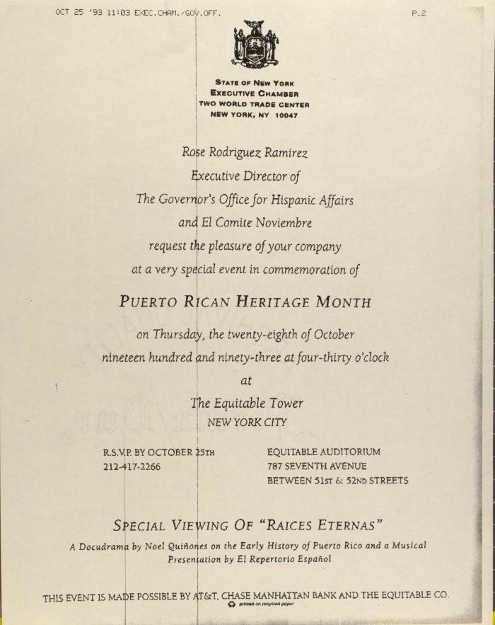 Puerto Rican Heritage Month