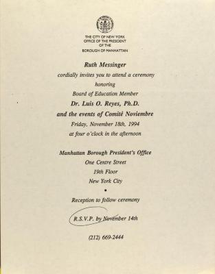 Ceremony Honoring Luis O. Reyes