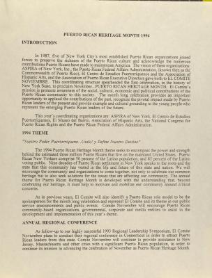 Puerto Rican Heritage Month - 1994