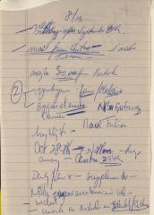 Manuscript Notes on Comité Noviembre