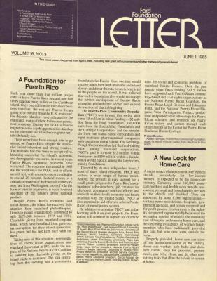 Ford Foundation - Letter