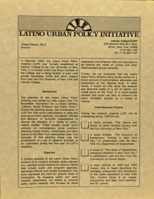 Latino Urban Policy Institute
