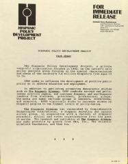 Hispanic Policy Development Project - Fact Sheet
