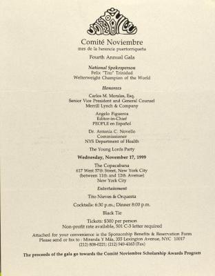 Comité Noviembre - Fourth Annual Gala