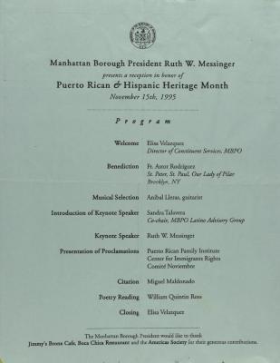 Puerto Rican & Hispanic Heritage Month - Program