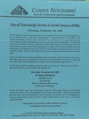 Day of Community Service and Social Responsibility
