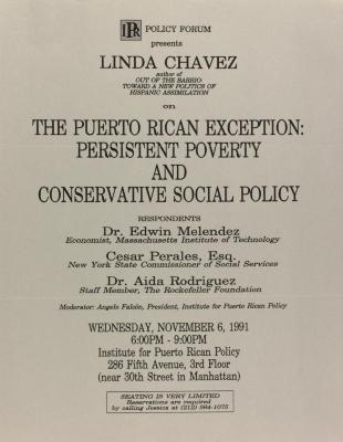 The Puerto Rican Exception: Persistent Poverty and Conservative Social Policy