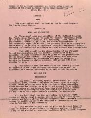 By-Laws of the National Congress for Puerto Rican Rights As Amended at the First National Puerto Rican Convention