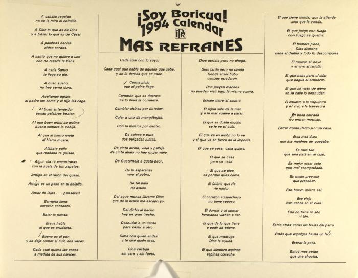 Más Refranes - Soy Boricua! / More Sayings - I am Puerto Rican!