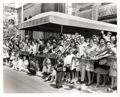 Onlookers awaiting the parade