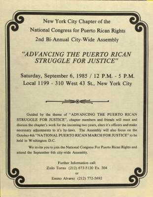 'Advancing the Puerto Rican Struggle for Justice'