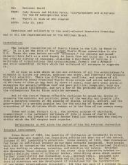 Memorandum between the National Board and the National Congress For Puerto Rican Rights