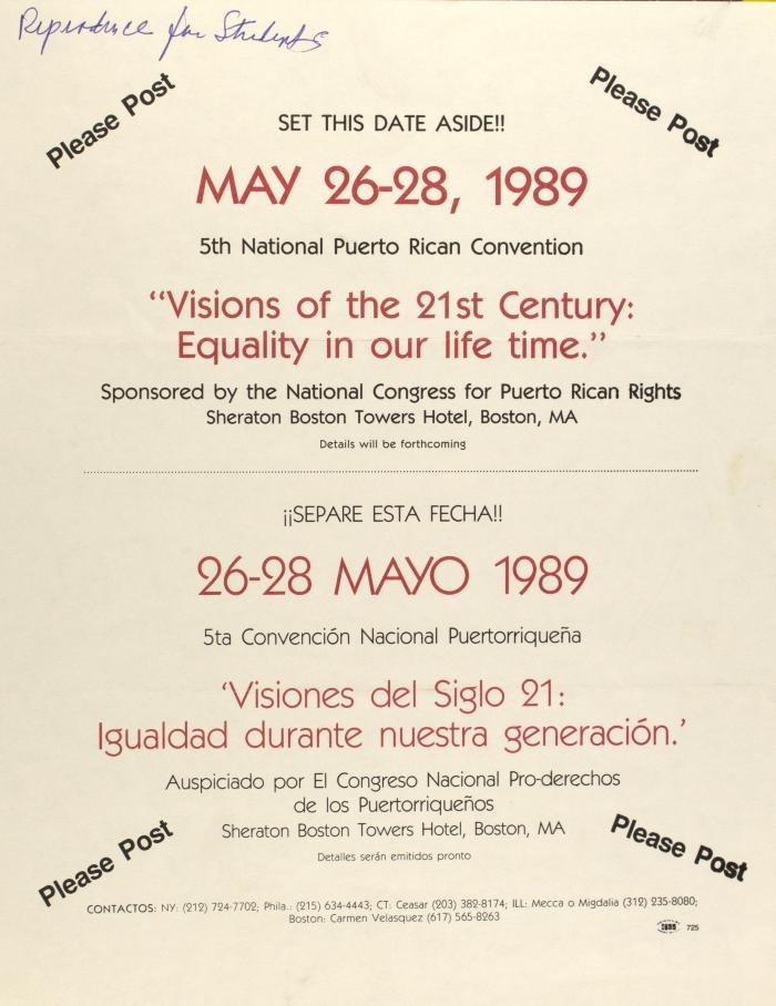 """""""Visions of the 21st Century: Equality in our life time"""""""