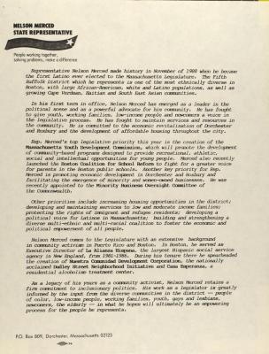 Statement on Nelson Merced, State Representative of Massachusetts