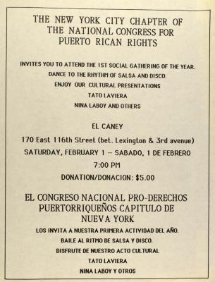 The New York City Chapter of the National Congress of Puerto Rican Rights