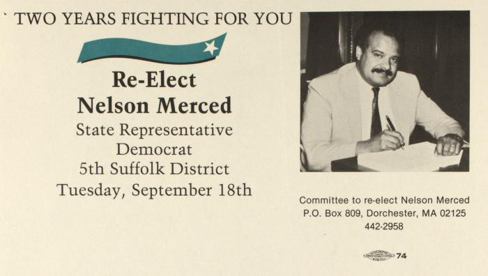 Re-Elect Nelson Merced