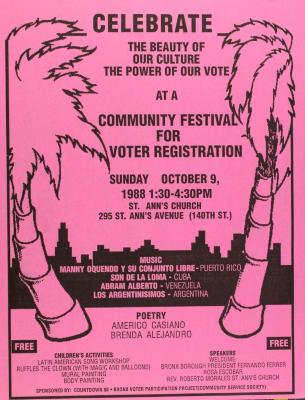 Community Festival for Voter Registration