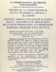 Protestar la Intervencion de Los E.U. en America Central Y El Caribe! / Protest U.S. Intervention in Central America and the Caribbean!