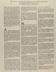 Congreso Nacional Pro Derechos de Los Puertorriqueños - Declaracion de Propositos y Principios / National Congress for Puerto Rican Rights - Declaration of Purposes and Principles
