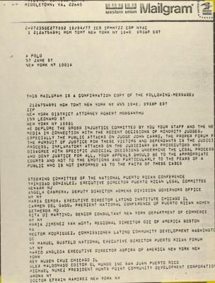 Correspondence from A Polo