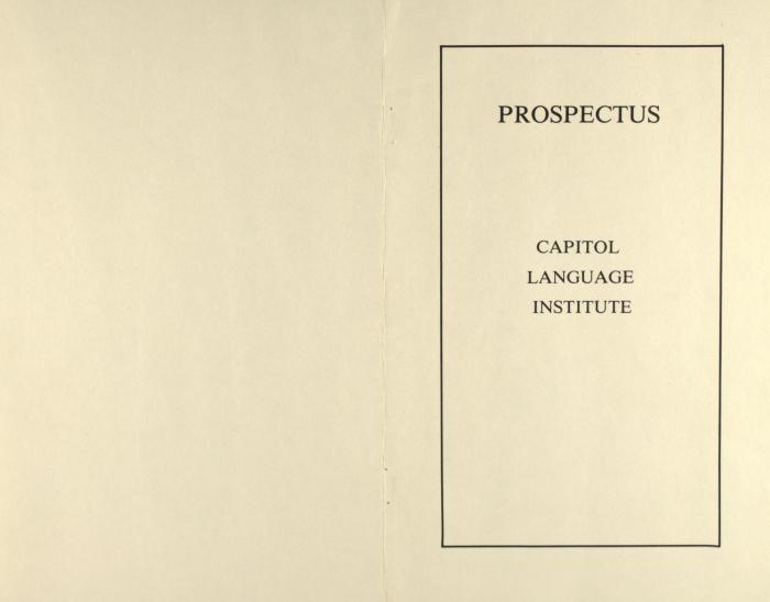 Prospectus - Capitol Language Institute