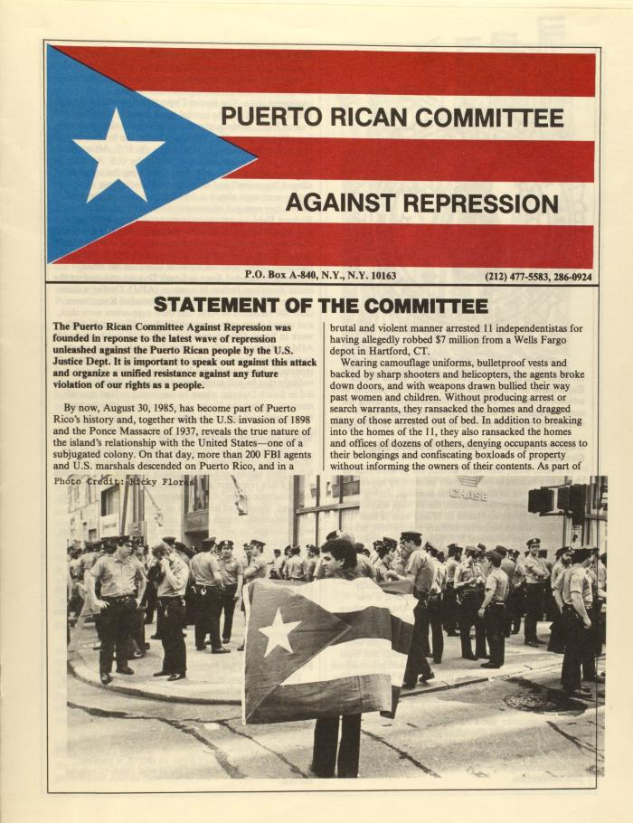 Puerto Rican Committee Against Repression