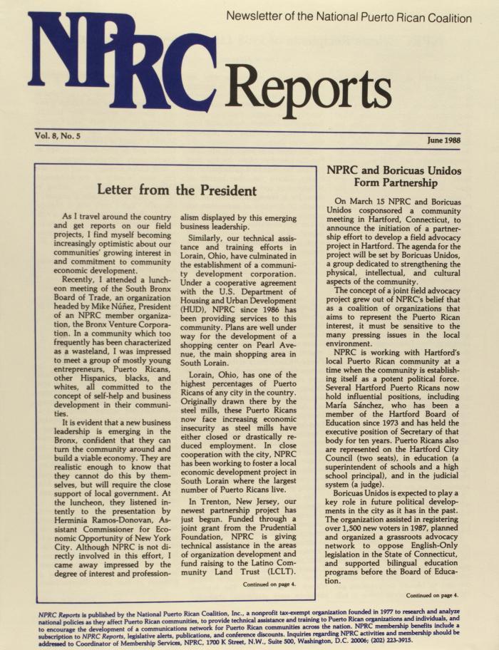 NPRC Reports