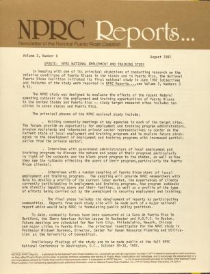 NPRC Reports . . .