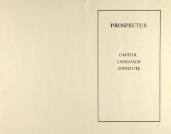 Prospectus - Capitol Language Institute