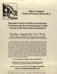 Rally to Support Political Prisoners & P.O.W's