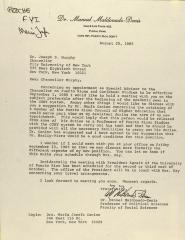Correspondence from Dr. Manuel Maldonado-Denis