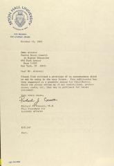 Correspondence from Seton Hall University