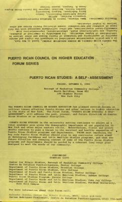 Puerto Rican Studies: A Self-Assessment