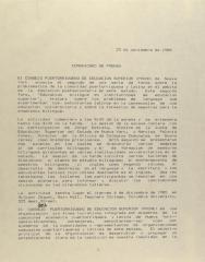 Comunicado de Prensa / Press Release
