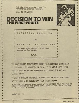 Decision to Win the First Fruits