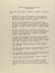 Puerto Rican Studies CUNY Council - Questionnaire
