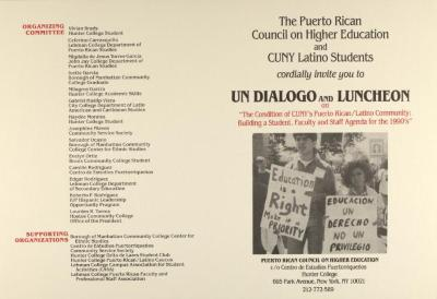The Condition of CUNY's Puerto Rican/Latino Community: Building a Student, Faculty, and Staff Agenda for the 1990s