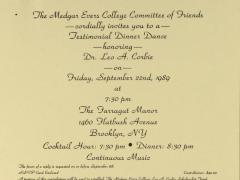 Testimonial Dinner Dance Honoring Leo A. Corbie