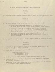 Bylaws of the Puerto Rican Council on Higher Education