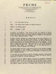 Memorandum from the Puerto Rican Council on Higher Education