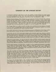 Summary of the Otheguy Report