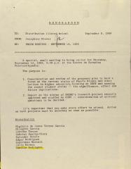 Memorandum from Josephine Nieves