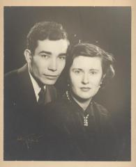 A portrait of Herman Badillo and his first wife Norma