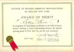 Award of Merit to Ellen Lurie