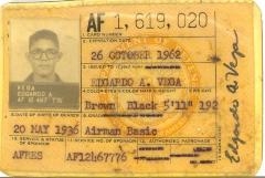 Edgardo Vega's Miltary ID Card